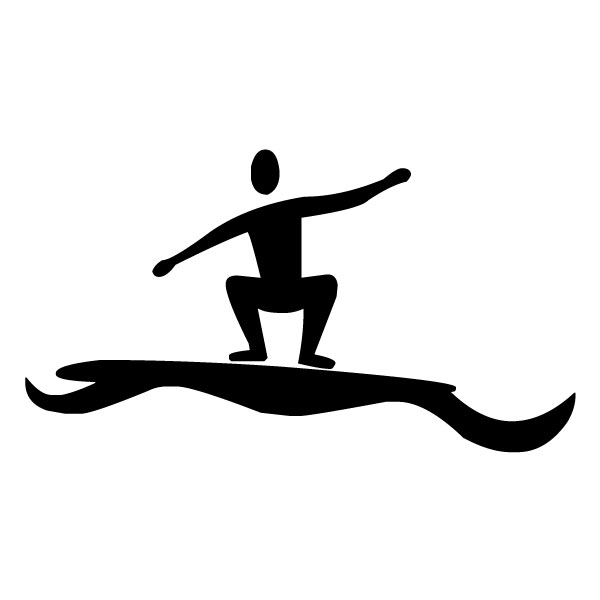 Surfer and a Wave B LAK 28 1 Surfing Wall Decal