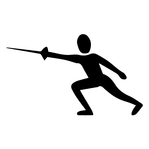 Swordsman B LAK 2 H Sports Wall Decal