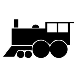 Train Silhouette 1B LAK 11 1 Train Wall Decal