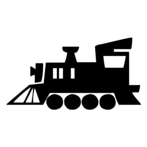 Train Silhouette 2B LAK 11 3 Train Wall Decal