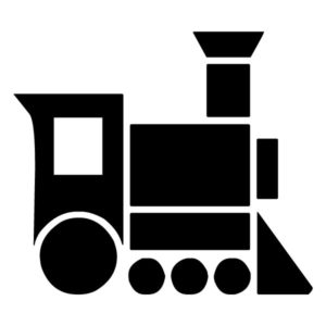 Train Silhouette 3A LAK 11 4 Train Wall Decal