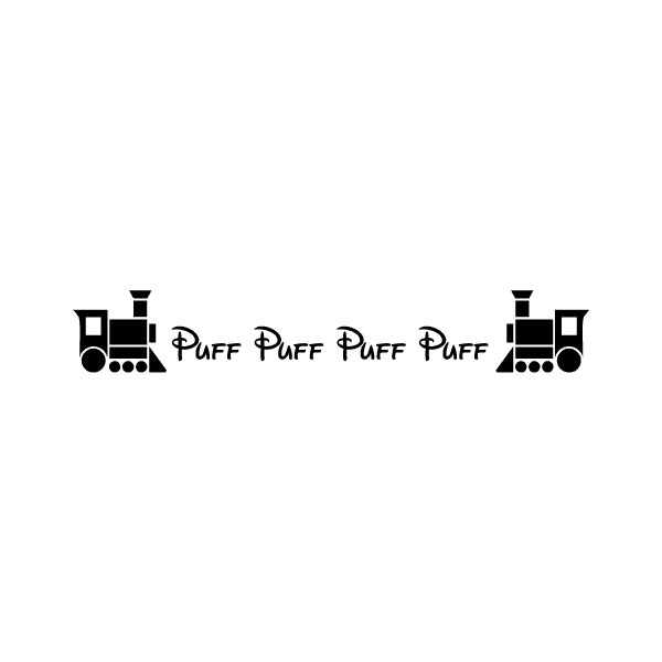 Puff Puff Puff Wall Decal