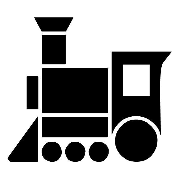 Train Silhouette 3B LAK 11 5 Train Wall Decal