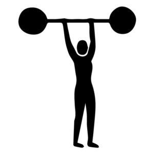 Weight lifter A LAK 2 E Sports Wall Decal