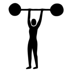 Weight lifter B LAK 2 F Sports Wall Decal