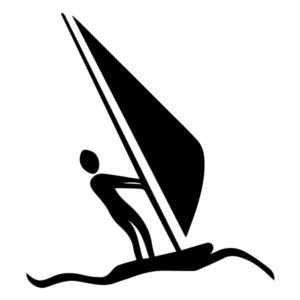 Wind surfer A LAK 2 M Sports Wall Decal