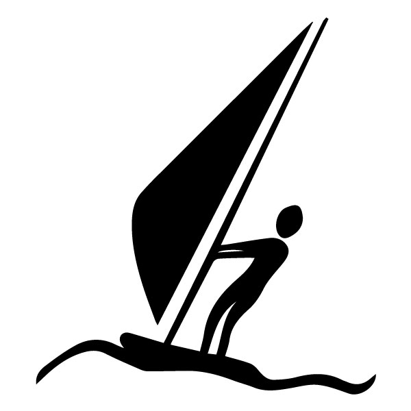 Wind surfer B LAK 2 N Sports Wall Decal