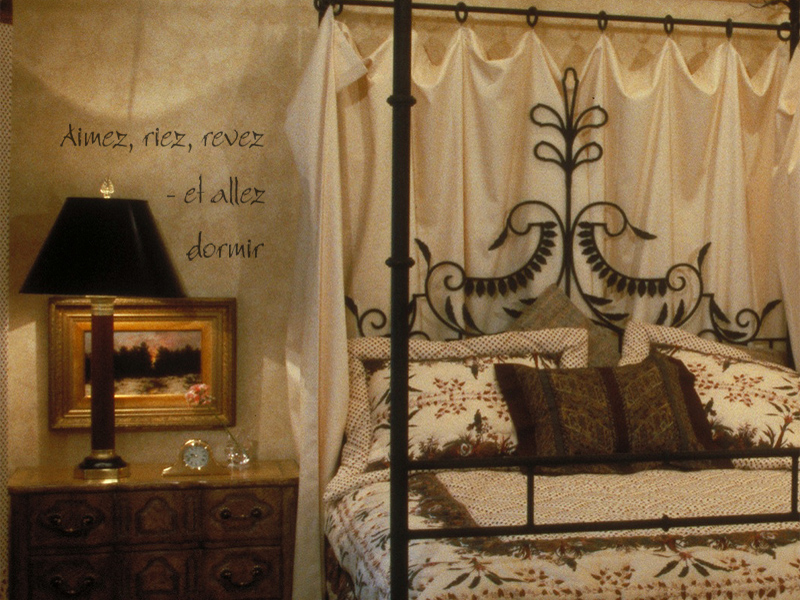 Wrought Iron Bed Idea French Lettering