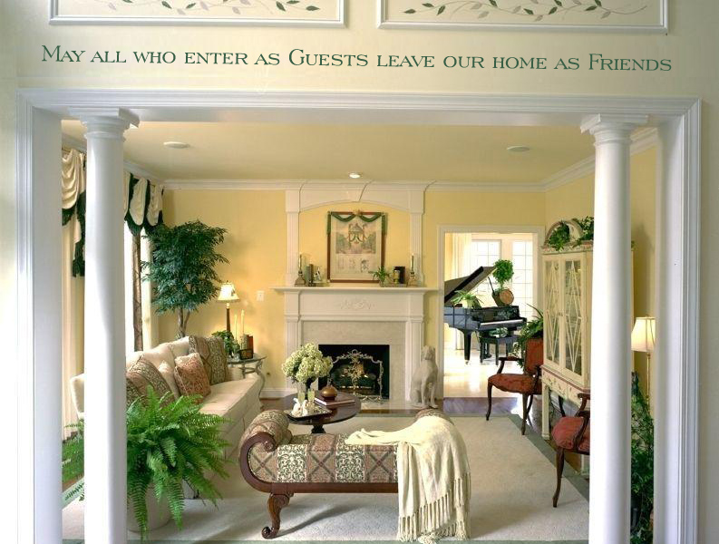 Living Room Entrance Decor Idea
