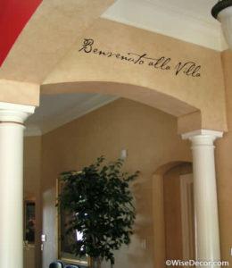 Benvenuto Alla Villa Wall Decal