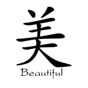 Beautiful Pretty Chinese Characters Mei Kaiti Engtrans 7 Wall Decal