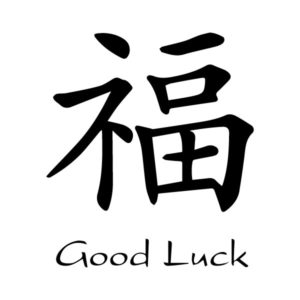 Blessing Good Fortune Good Luck Chinese Characters Fu Kaiti Engtrans 3 Wall Decal