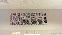 Horizontal Office Rules Wall Decal