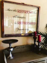 those who Refresh others will also be refreshed Wall Decal