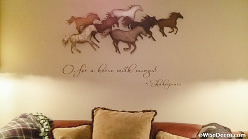 O far a horse with wings Wall Decal