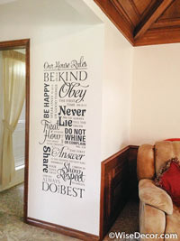 Our House Rules Wall Decal