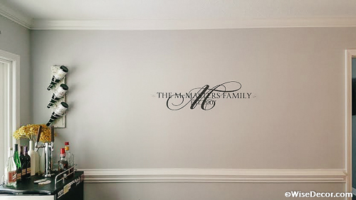 The McMasters Family Wall Decal