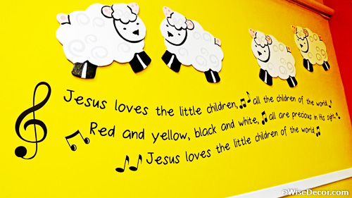 Jesus loves the little children Wall decal