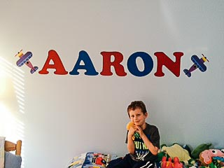 Aaron Wall Decal