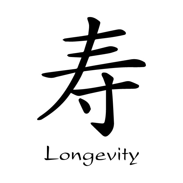 Longevity Chinese Characters Shou Kaiti Engtrans 8 Wall Decal