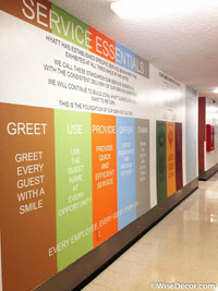 Service Essentials Wall Decal