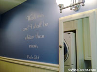 Wash me and I shaall be whiter than snow Wall Decal