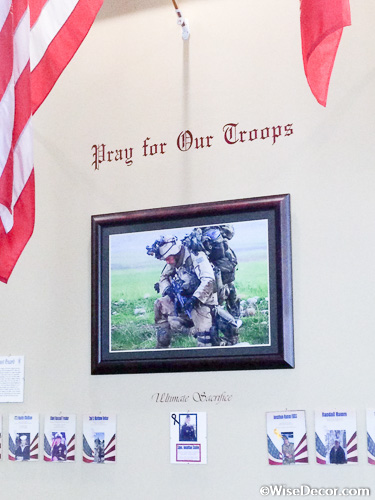 Pray for our troops Wall Decal