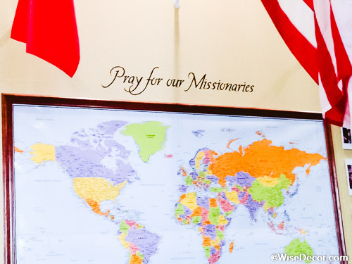 Pray for our missionaries Wall Decal