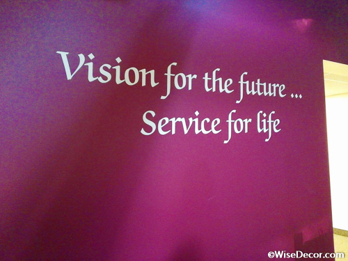 Vision for the future... Service for life Wall Decal