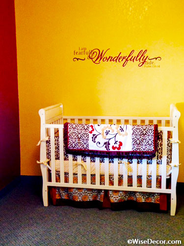 Fearfully Wonderfully Made Wall Decal