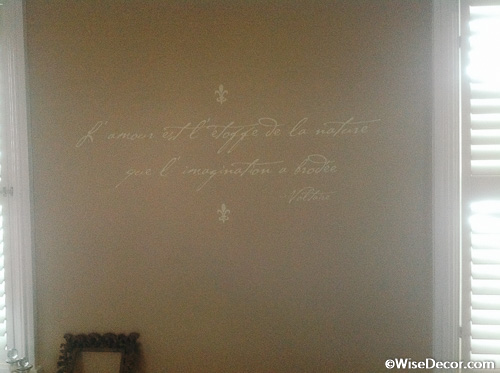 L' amour est t'etoffe Wall Decal