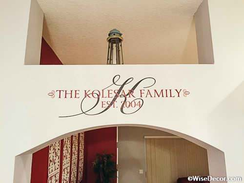 The Kolesar Family Wall Decal