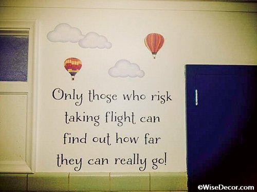 Only Those Who Risk Taking Flight
