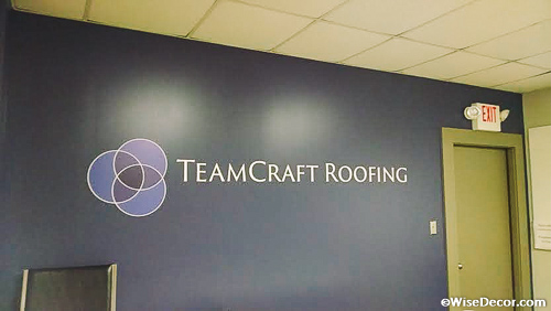 TeamCraft Roofing Wall Decal