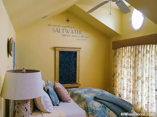 the cure for anything is salt water Wall Decal