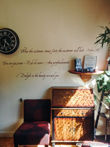 When the customer comes first, the customer will last. Wall Decal