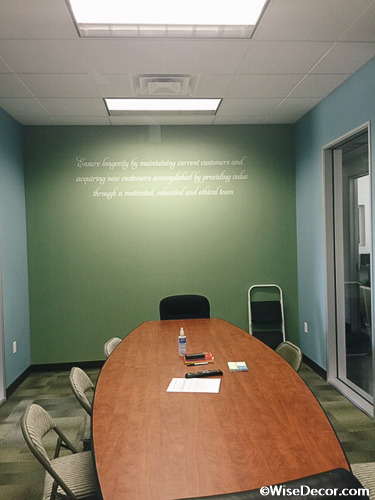 Ensure longevity by maintaining current customers Wall Decal