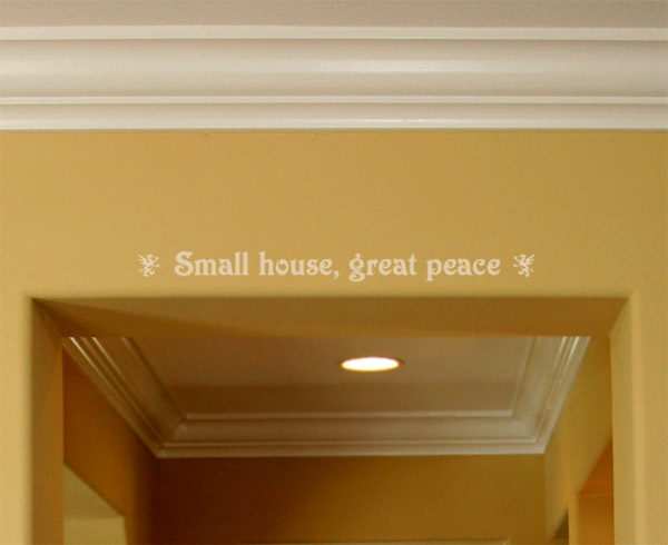 Small House, Great Peace Wall Decal