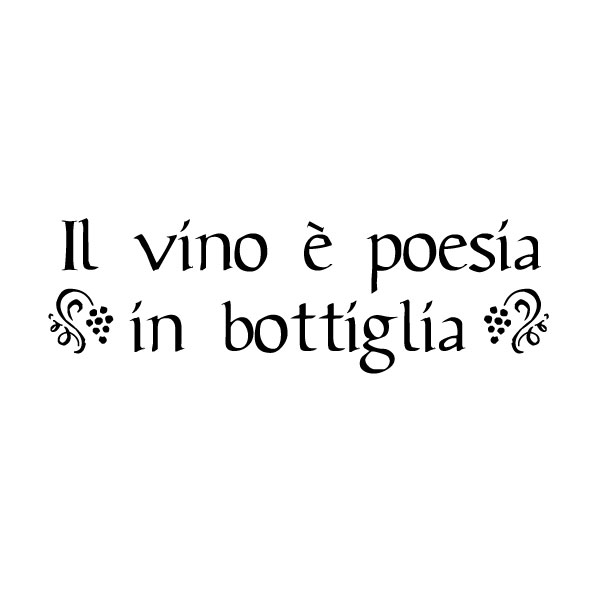 ToIl vino è Wall Decal
