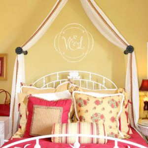 Filigree Monogram Wall Decal