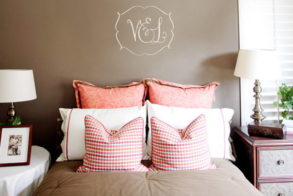 V&L Monogram Wall Decal