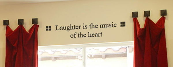 Laughter Is The Music Of The Heart Wall Decal