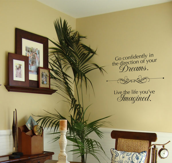 Go confidently in Wall Decal