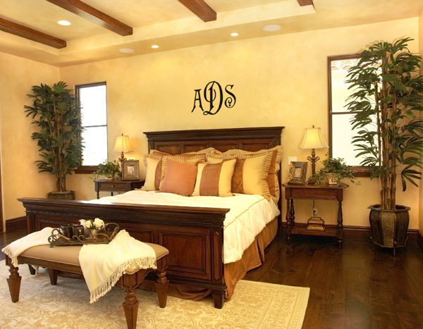 New Antique Monogram Wall Decal