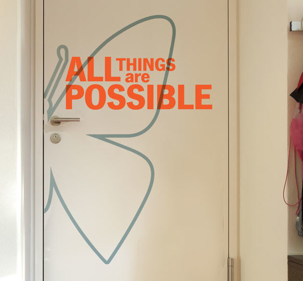 All things are Wall Decal