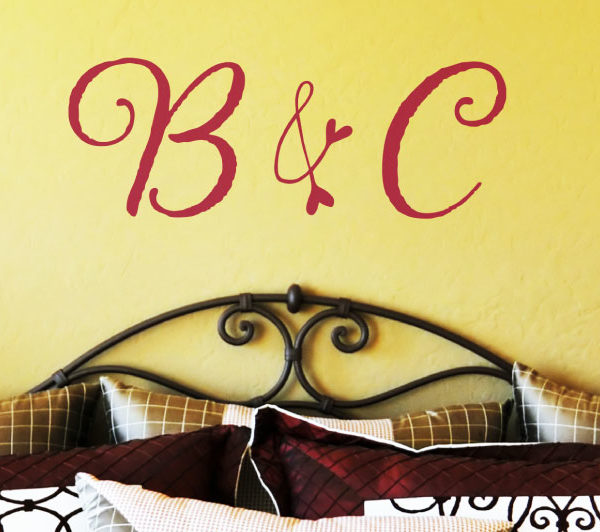 Ampersand Monogram Wall Decal