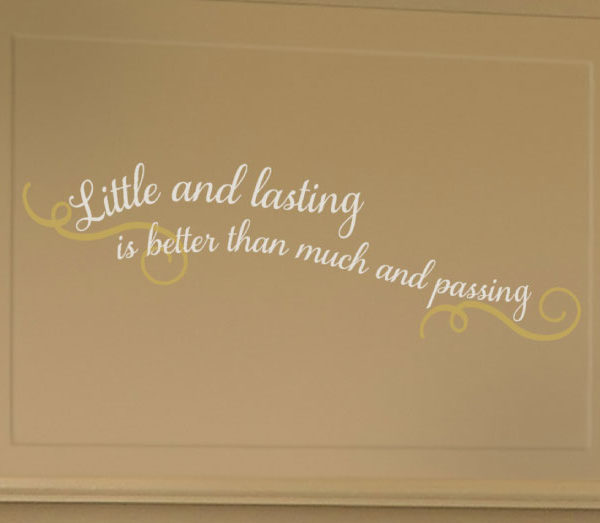 Little and lasting Wall Decal