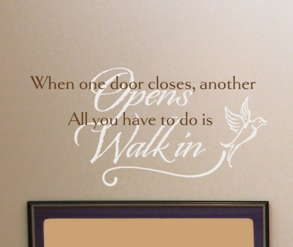 When one door Wall Decal