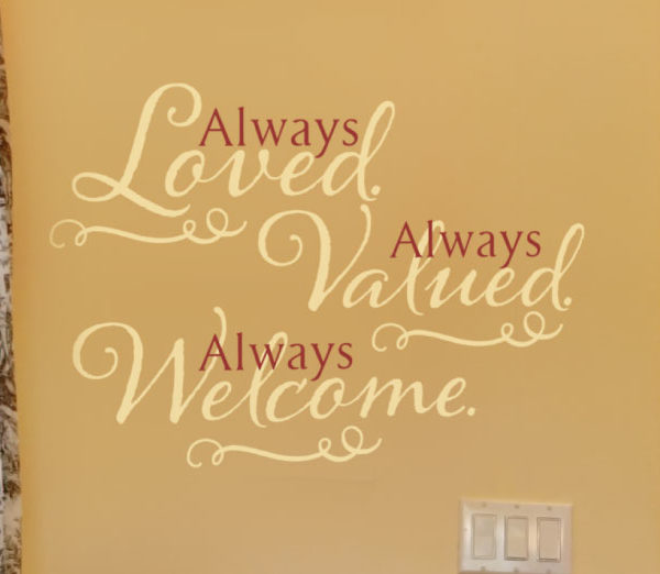 Always loved Always Wall Decal