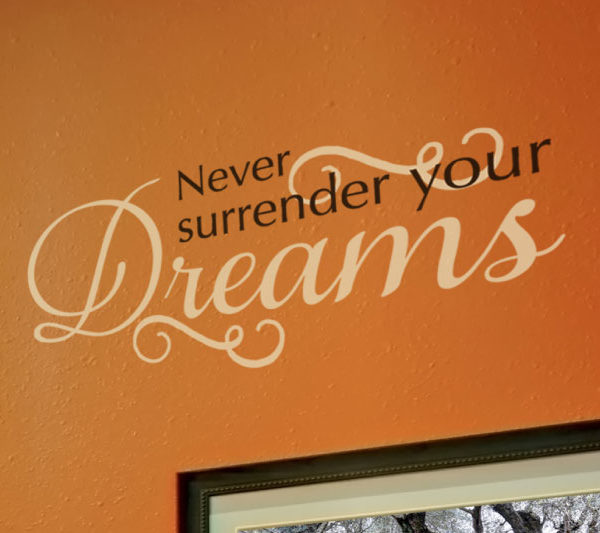 Never surrender your Wall Decal